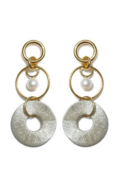 Santa Ana Earrings in Metallic