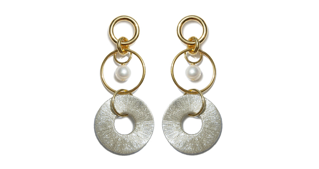 Santa Ana Earrings in Metallic. One of our favorite summer statement earrings recolored in a...
