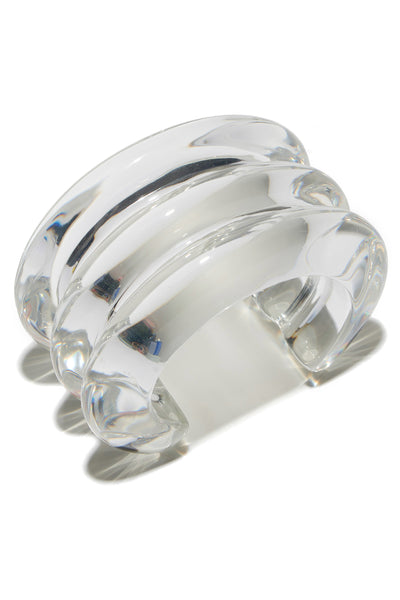Triple Ridge Cuff In Clear