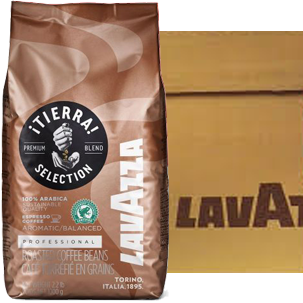 Lavazza Tierra Selection 100% Arabica Coffee Beans, case of 6 x 1kg