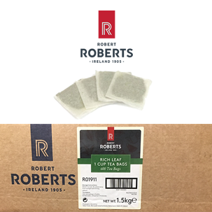 Robert Roberts Rich Leaf Black Tea, per case of 600 bags