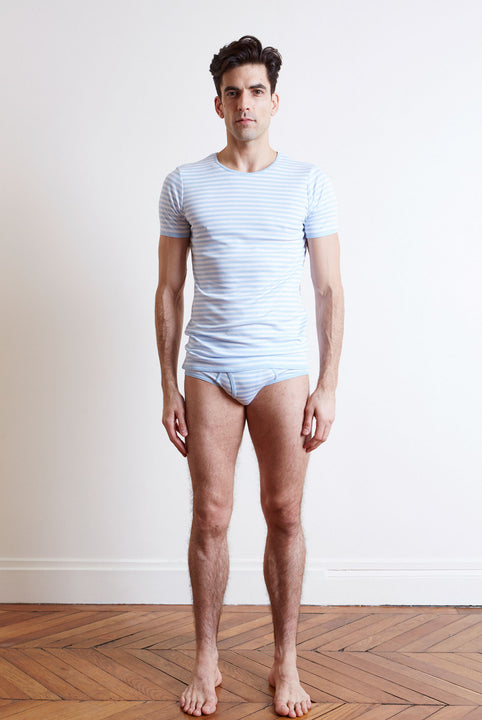 the white briefs short-sleeved crew neck t-shirt with a slimmer fit in 100% organic pima cotton