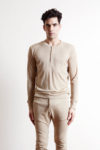 The white briefs fine merino wool rib is a new henley model