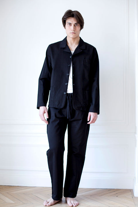 the white briefs black cotton jacket
