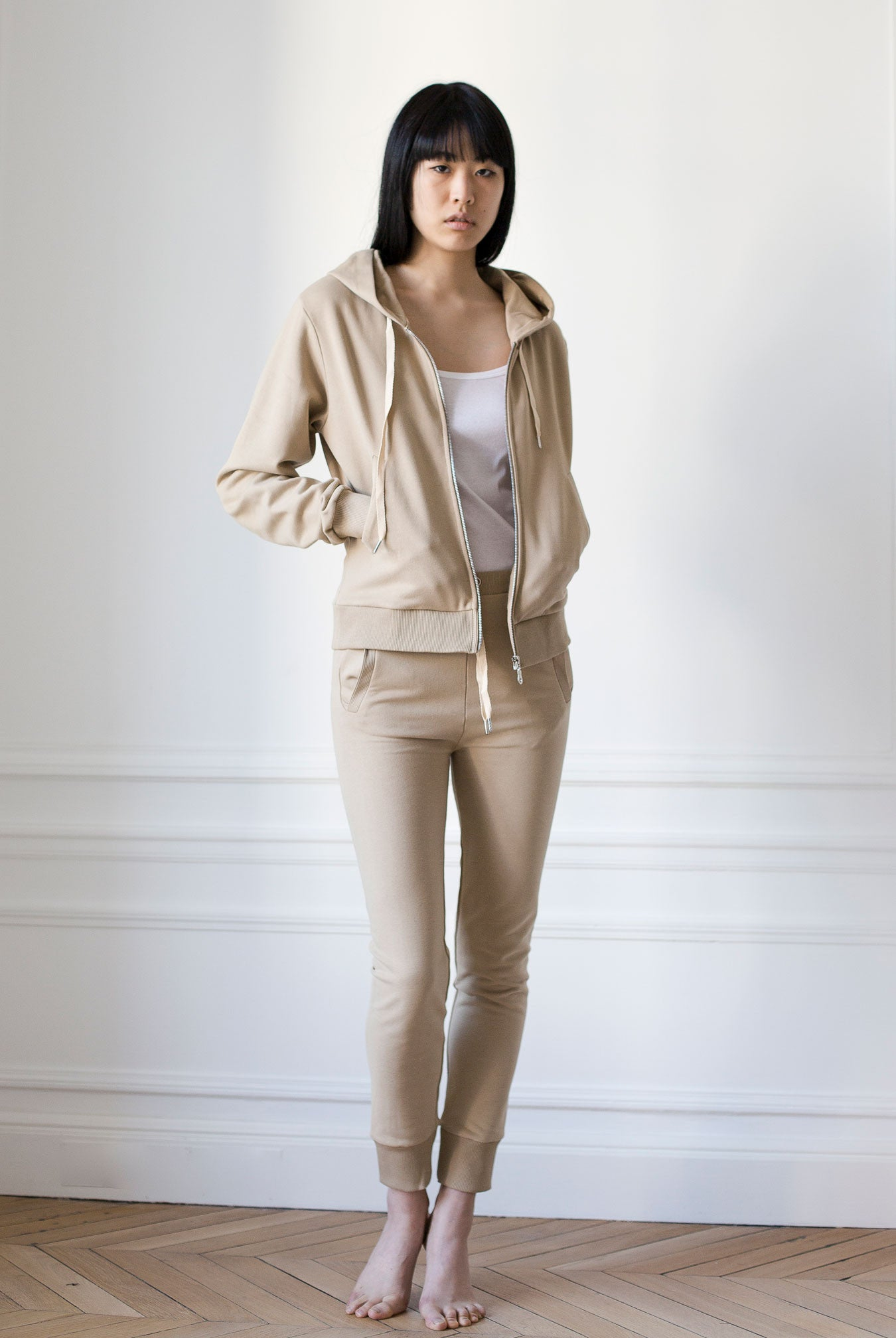 the white briefs camel cotton jacket