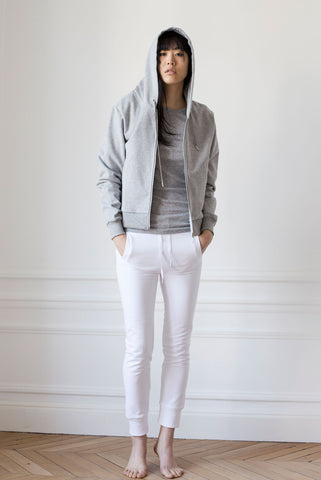 the white briefs grey melange cotton jacket