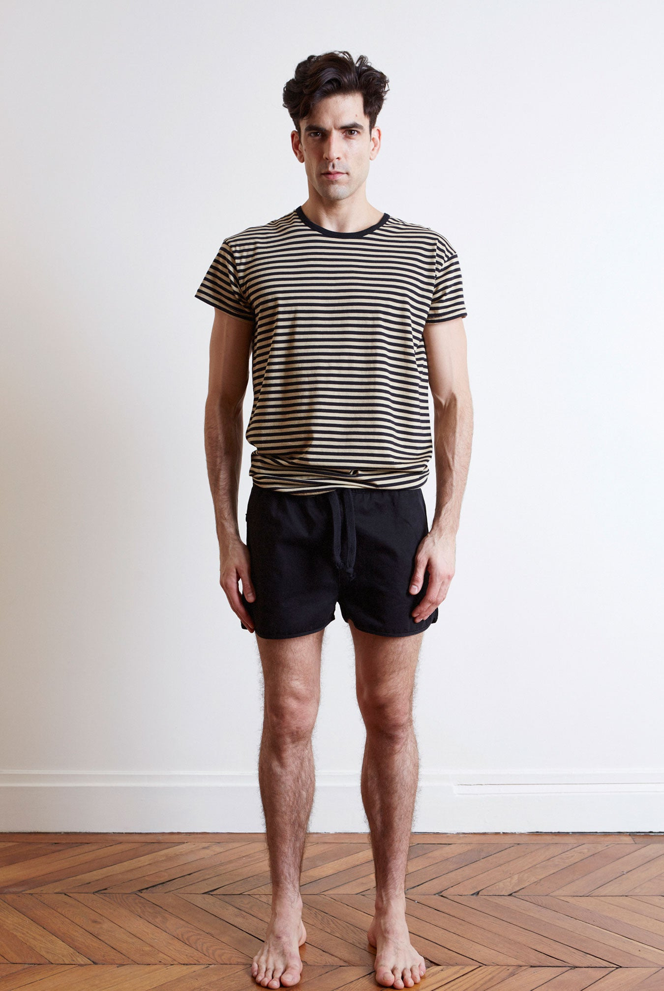 the white briefs camel cotton t-shirt