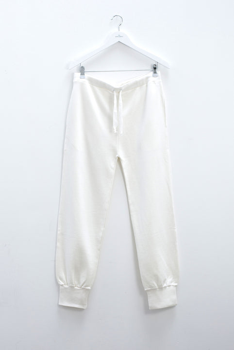 the white briefs drawstring pant in 100% organic cotton terry