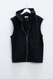 Son boiled wool hooded vest