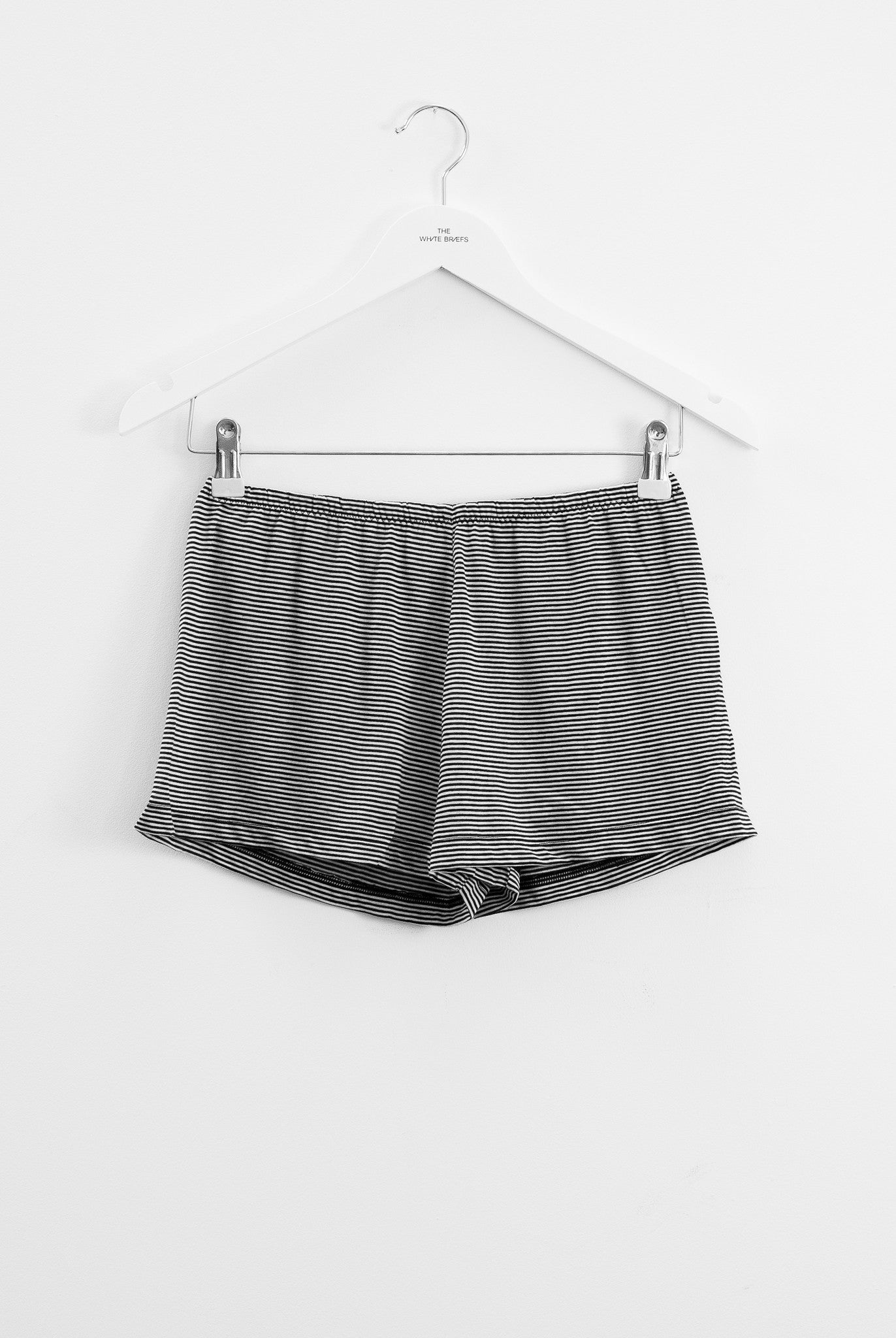The white briefs orchid stripe culotte