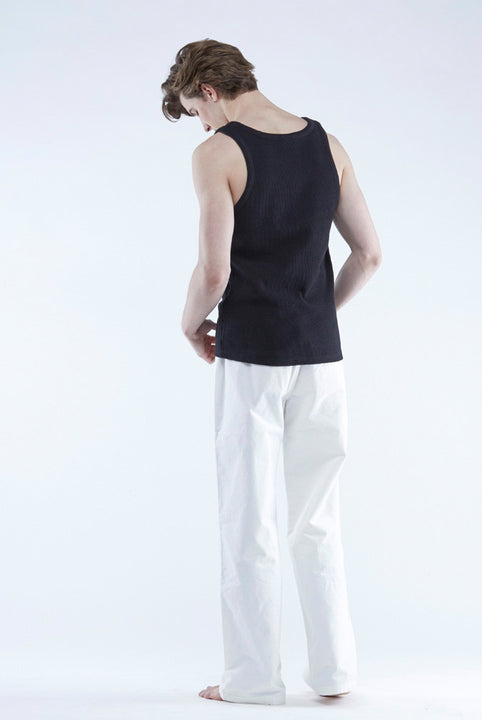 the white briefs singlet in 100% organic cotton