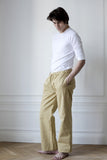Men's tan organic cotton twill trousers
