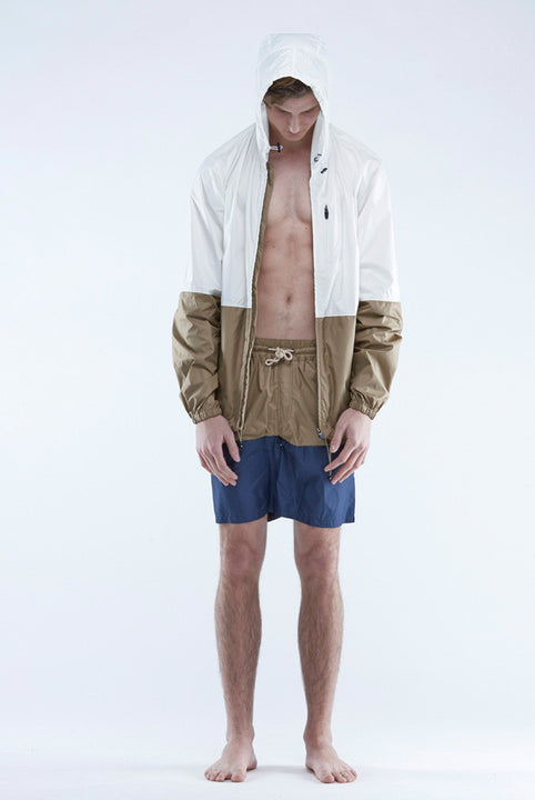 the white briefs windbreaker jacket in a recycled polyester