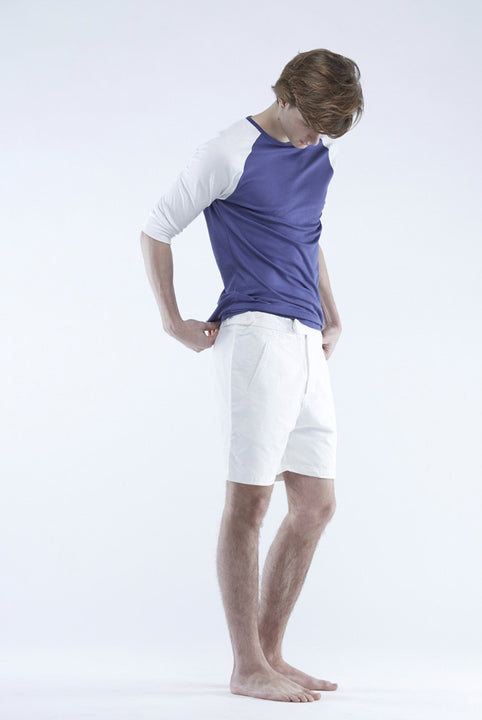 The White briefs 3/4 sleeve t-shirt with a slimmer fit in 100% organic pima cotton