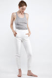the white briefs  slightly higher waist pants made in 100% organic cotton fleece