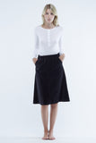 the white briefs a-line skirt in 100% organic cotton velvet