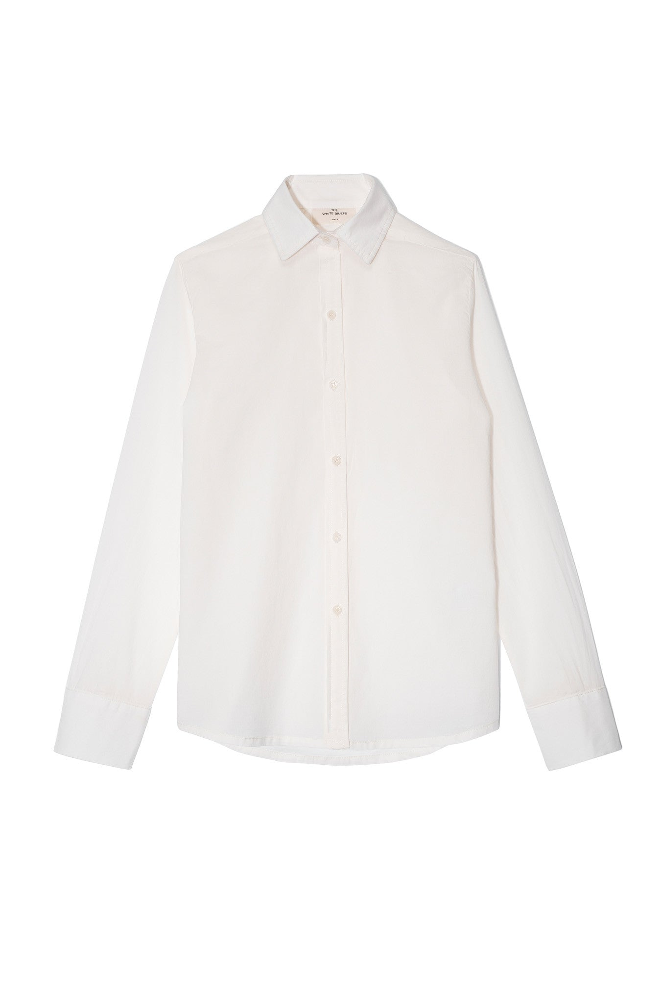 the white briefs fitted shirt in fine 100% organic cotton muslin