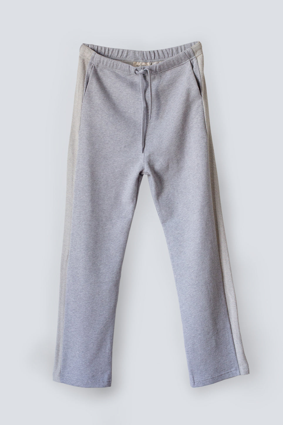 Straight leg soft terry grey trackpants for women made from an organic cotton by The White Briefs