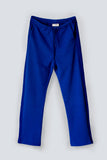 Straight leg soft terry blue trackpants for women made from an organic cotton by The White Briefs