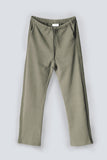 Straight leg soft terry khaki trackpants for women made from an organic cotton by The White Briefs