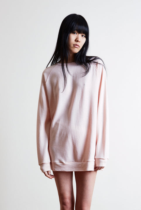 the white briefs oversized sweater in soft merino wool terry