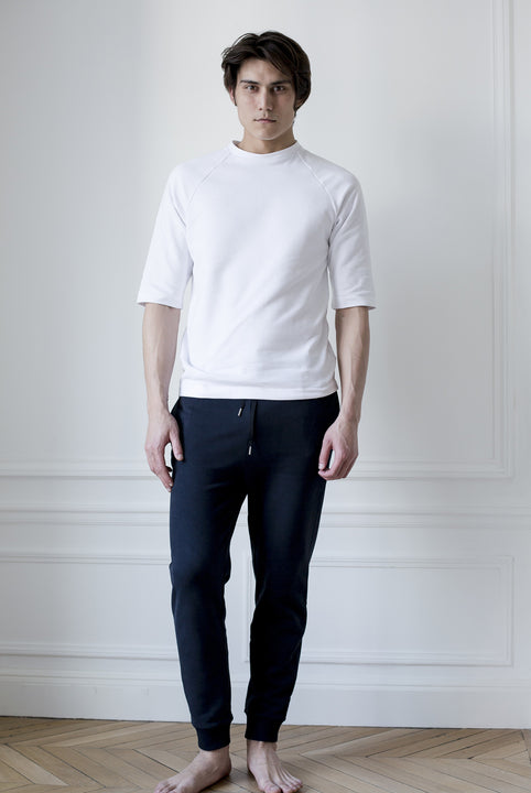 the white briefs half sleeved sweater in 100% organic cotton