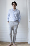the white briefs grey melange cotton pants