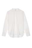 the white briefs chinoise collar shirt made of light cotton muslin