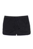 Wolf cotton twill shorts