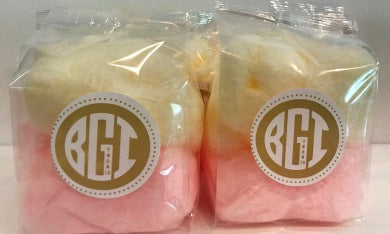 Cotton Candy with Label for Product Promotion