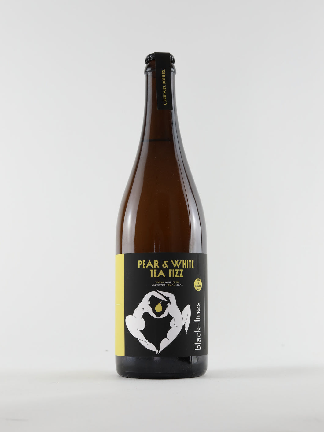 Pear & White Tea Fizz - Black-Lines
