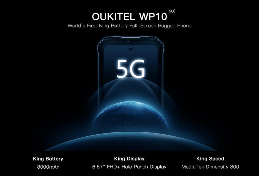 Oukitel WP10 World's First 5G King Battery Full-Screen Rugged Phone Launch Soon, Join Giveaway and Add to Cart Now!