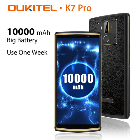 Oukitel K7 Pro is another model in the K-series. It comes with a 10000mAh battery