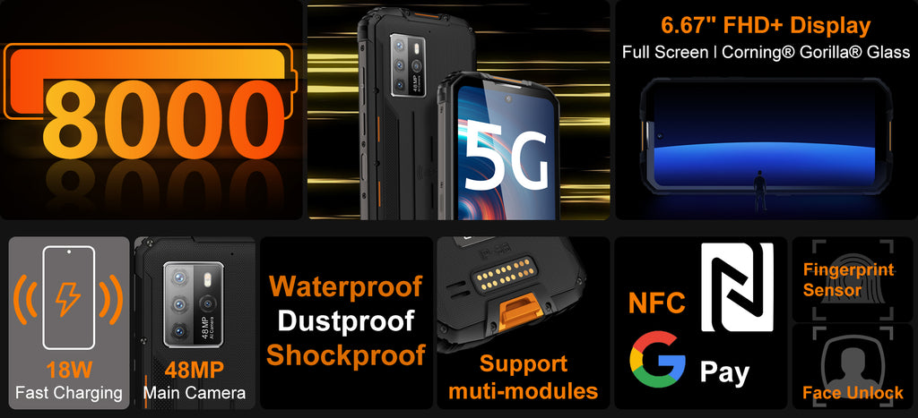 List of features of Oukitel WP10 5G Modular Phone