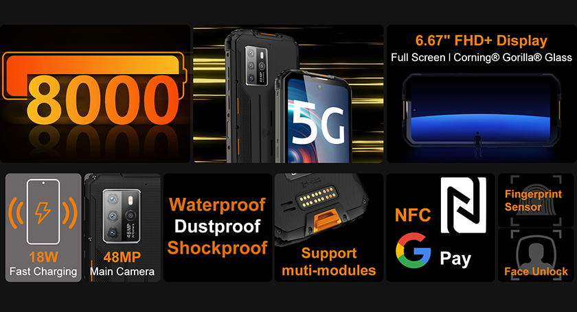 wp10 5g rugged phone selling point