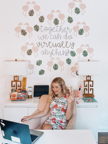 Kentucky Teacher Blogger, Sarah Weedman, creates at home classroom for virtual and distance learning