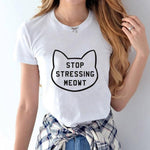 Stop Stressing MEOWT Short Sleeve Tee