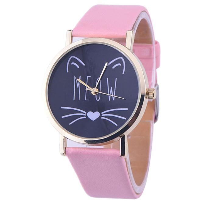 MEOW Analog Quartz  Wrist Watch (10 Colors)