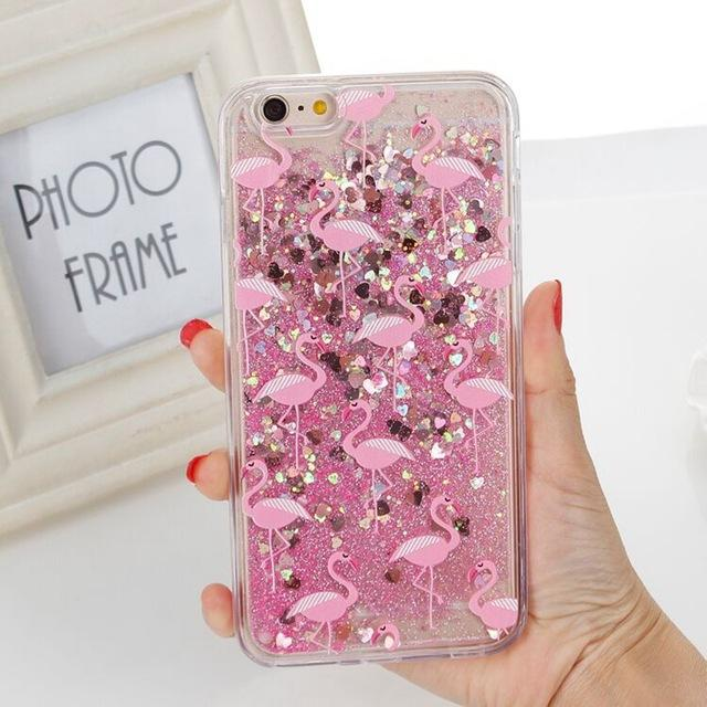 Pink Glitter Cat iPhone Case