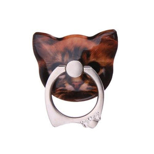 Cat Face Ring Phone Holder and Stand