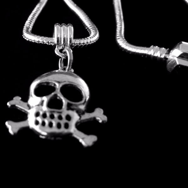 Skull & Crossbones Charm SC Necklace
