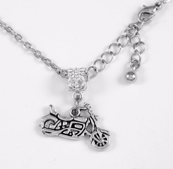Motorcycle Charm DC Necklace