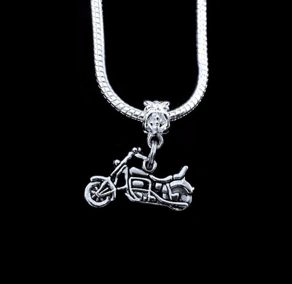 Motorcycle Charm SC Necklace