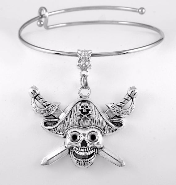 Pirate Charm Bangle Bracelet
