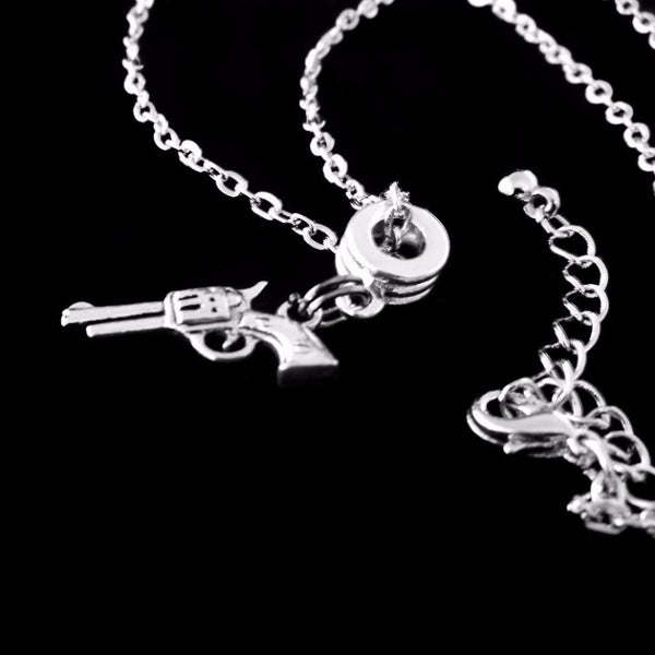 Revolver Charm DC Necklace