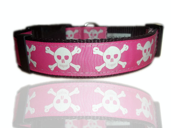 Ship Mate Skull and Crossbones Adjustable Dog Collar