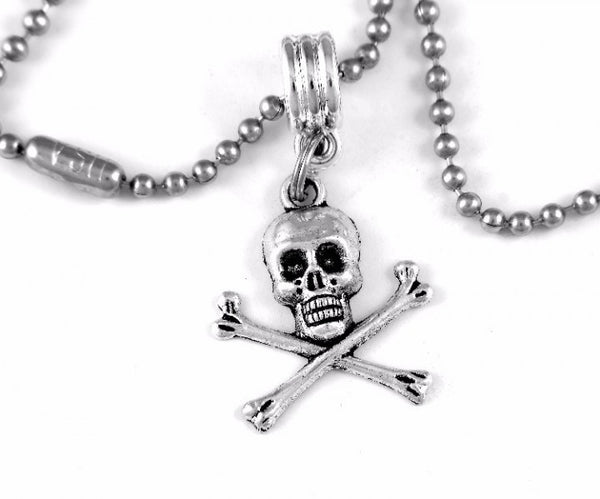Skull and Crossbones Charm BC Necklace