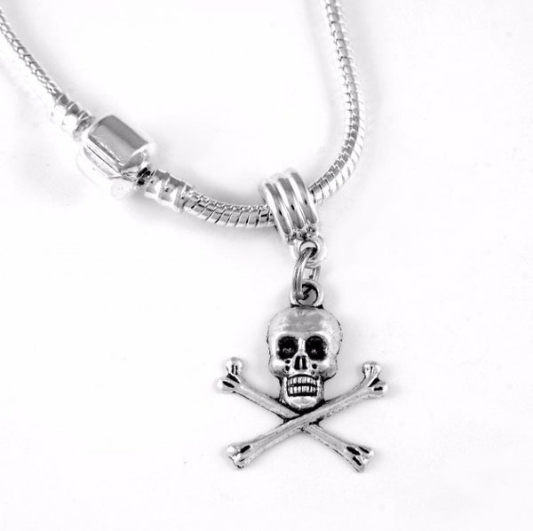 Skull and Crossbones Charm SC Necklace