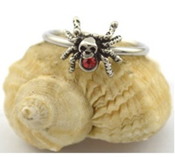 Skull and Spider Ring
