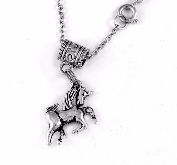 Unicorn Charm DC Necklace